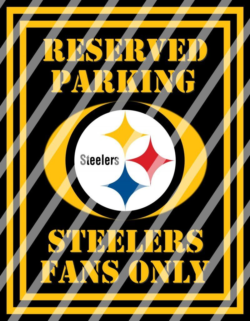 Pittsburgh Steelers Parking Wall Decor Sign #7 (instant download ...