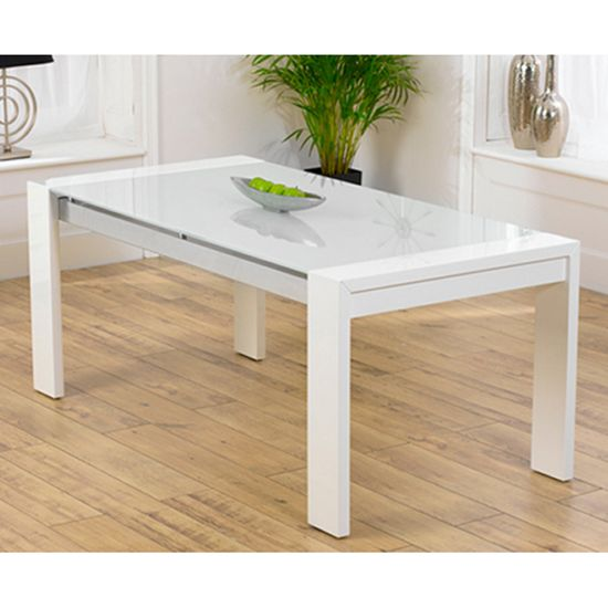 Lexus High Gloss White Glass Dining Table Only  White Gloss Pleasing Extendable Glass Dining Room Table Inspiration
