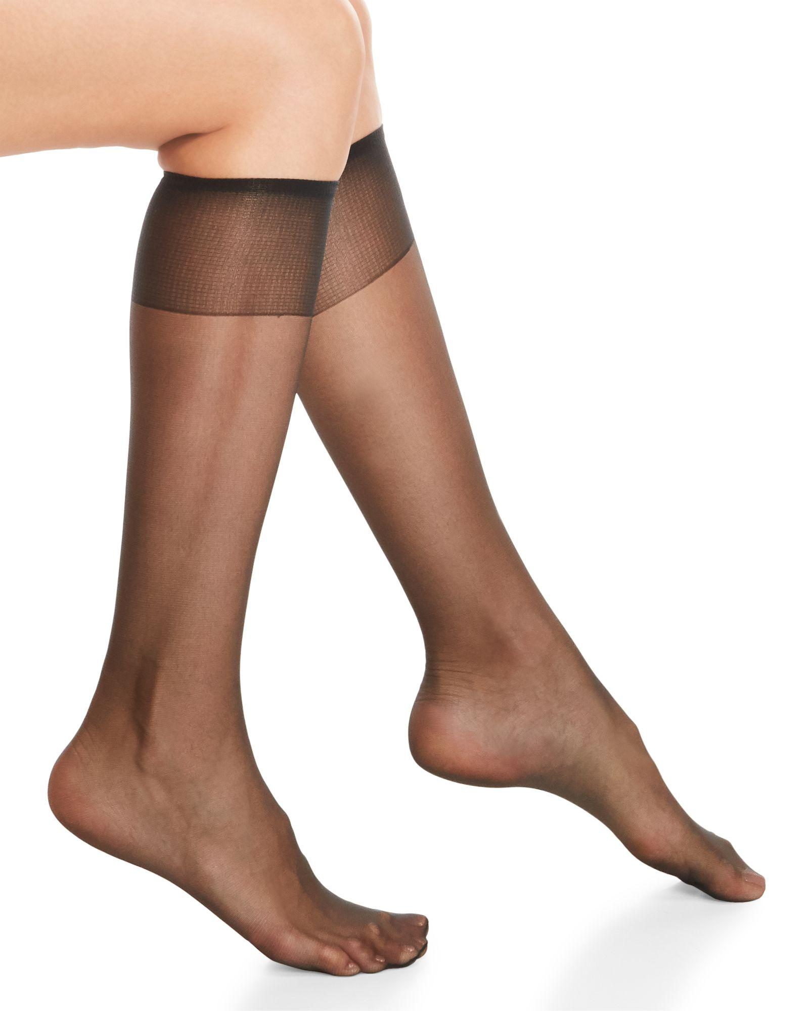 23d253ca793 Hanes Silky Sheer Sheer Toe Knee-Highs