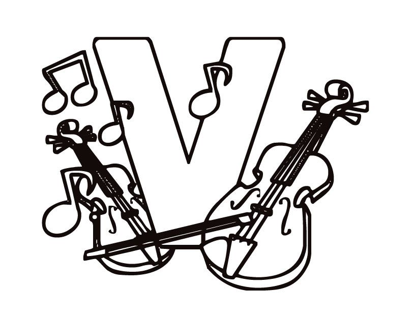 Violin Coloring Pages Best Coloring Pages For Kids Coloring Pages Letter V Coloring Pages For Kids