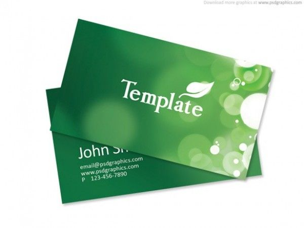 Green Eco Nature Business Card Templates PSD Httpwww - Business cards templates photoshop