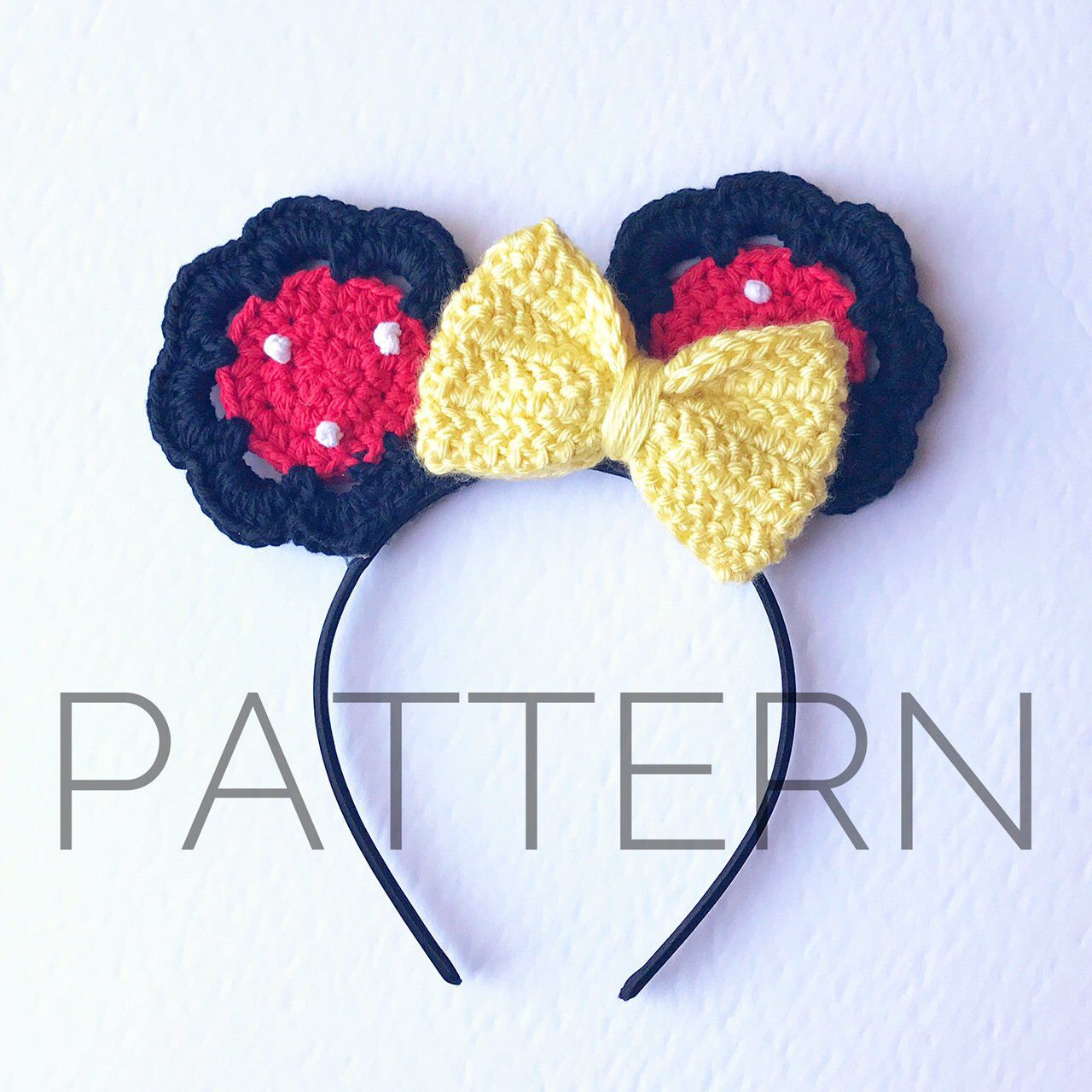 Minnie Inspired Crochet Mouse Earscrochet Patternminnie Mouse