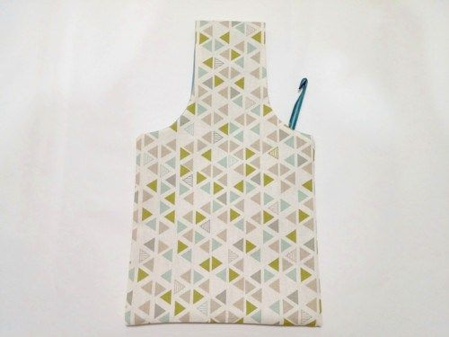 Multicolored Triangles Yarn Bag | The Steady Hand