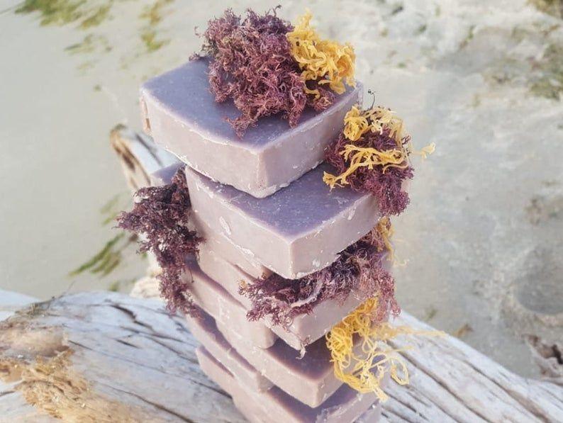 Purple Sea Moss Soap Handmade Soap Body Body Soap Gift Gift Handmade Bar Natural Soap Self Care Soap Sea Moss Irish Sea Food
