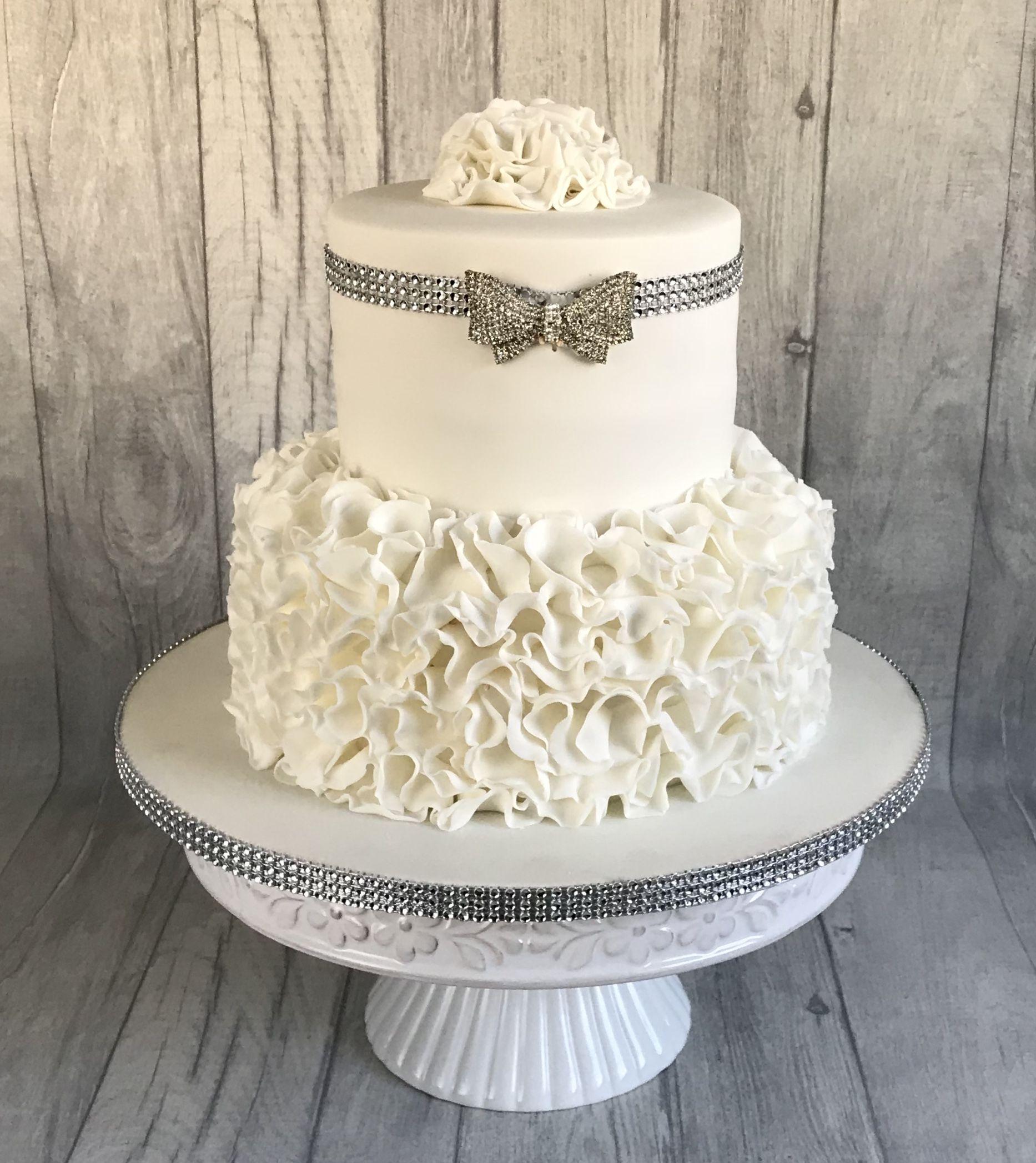 Diamond wedding anniversary cake | pastalar ve dugunler | Pinterest ...