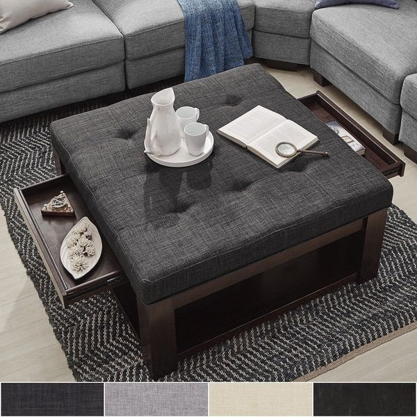 This Versatile Piece Offers The Comfort Of An Ottoman And The Convenience  Of A Coffee Table. With A Large Surface Area To Kick Up Your Feet Or Keep  Your ...