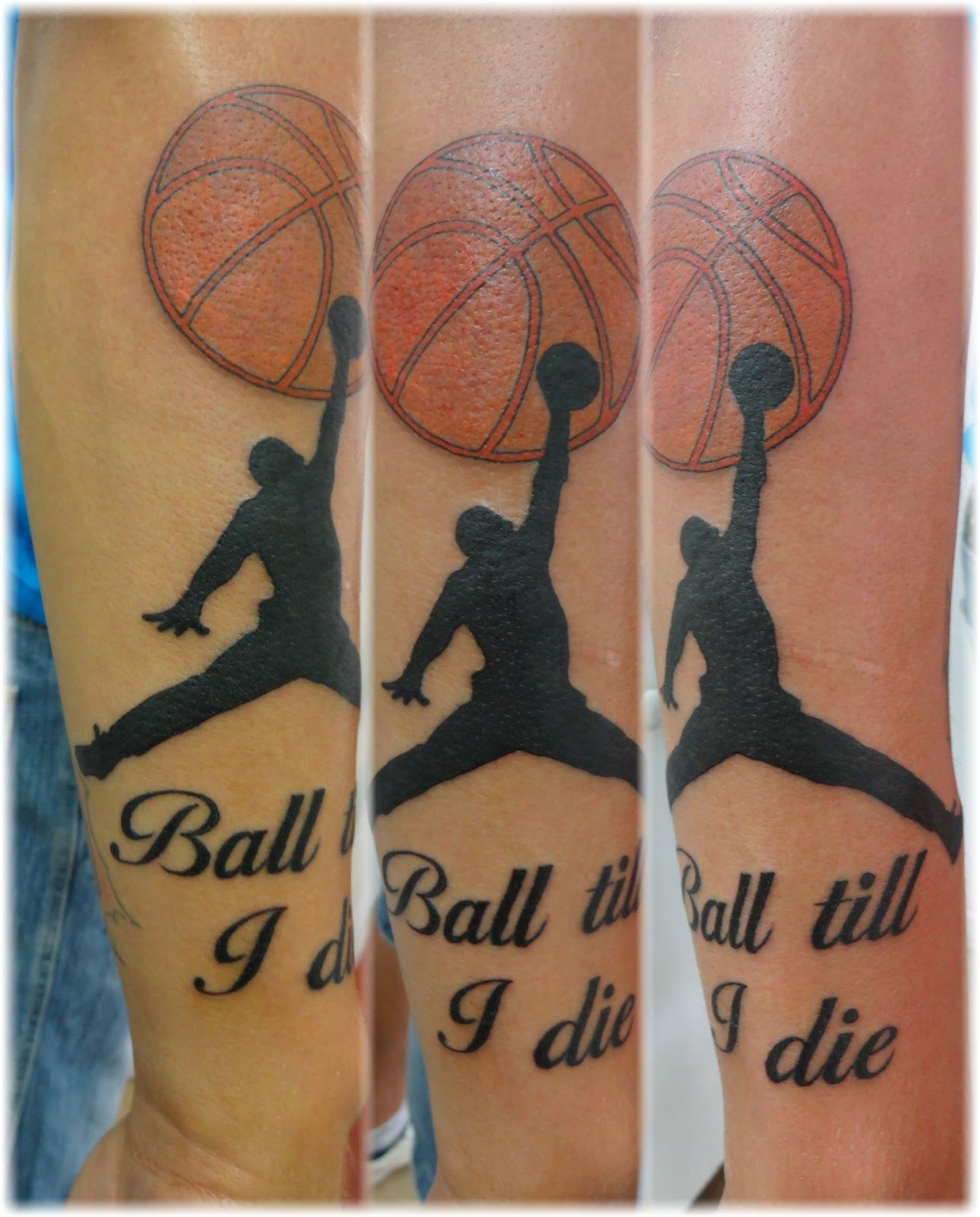 basketball Tattoos | . | cool tattoos | Pinterest | Basketball ...