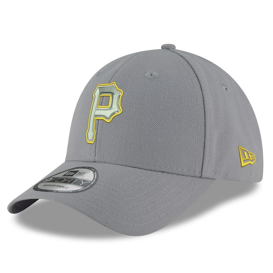 425d1080fd4ad Men s Pittsburgh Pirates New Era Gray Tempo 9FORTY Adjustable Snapback Hat