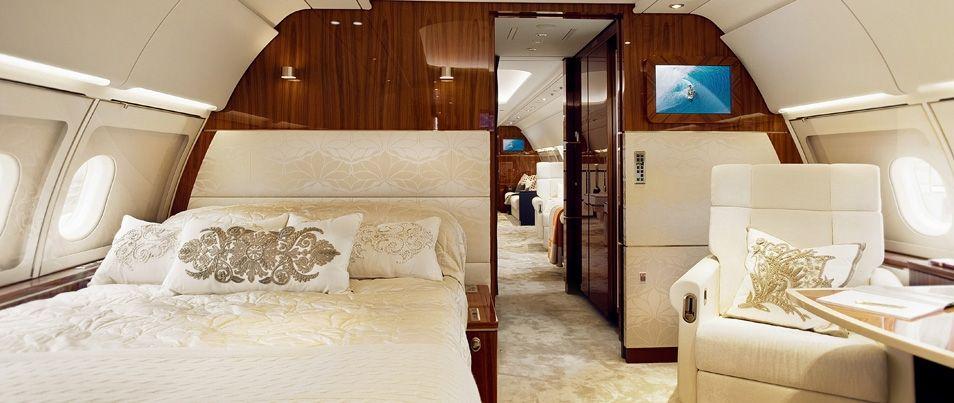bedroom business jet design aircraft interior design private jet