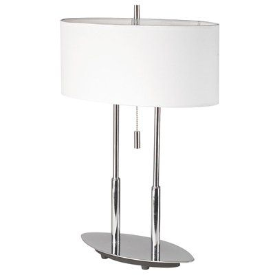 Dainolite Lighting DM2222 2-Light Oval Table Lamp  Modern Oval 2-Light Table LampFeatures a pull chain switch ,