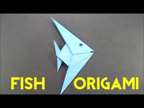 How To Make An Origami Fish Easy Paper Fish Tutorial For Beginners
