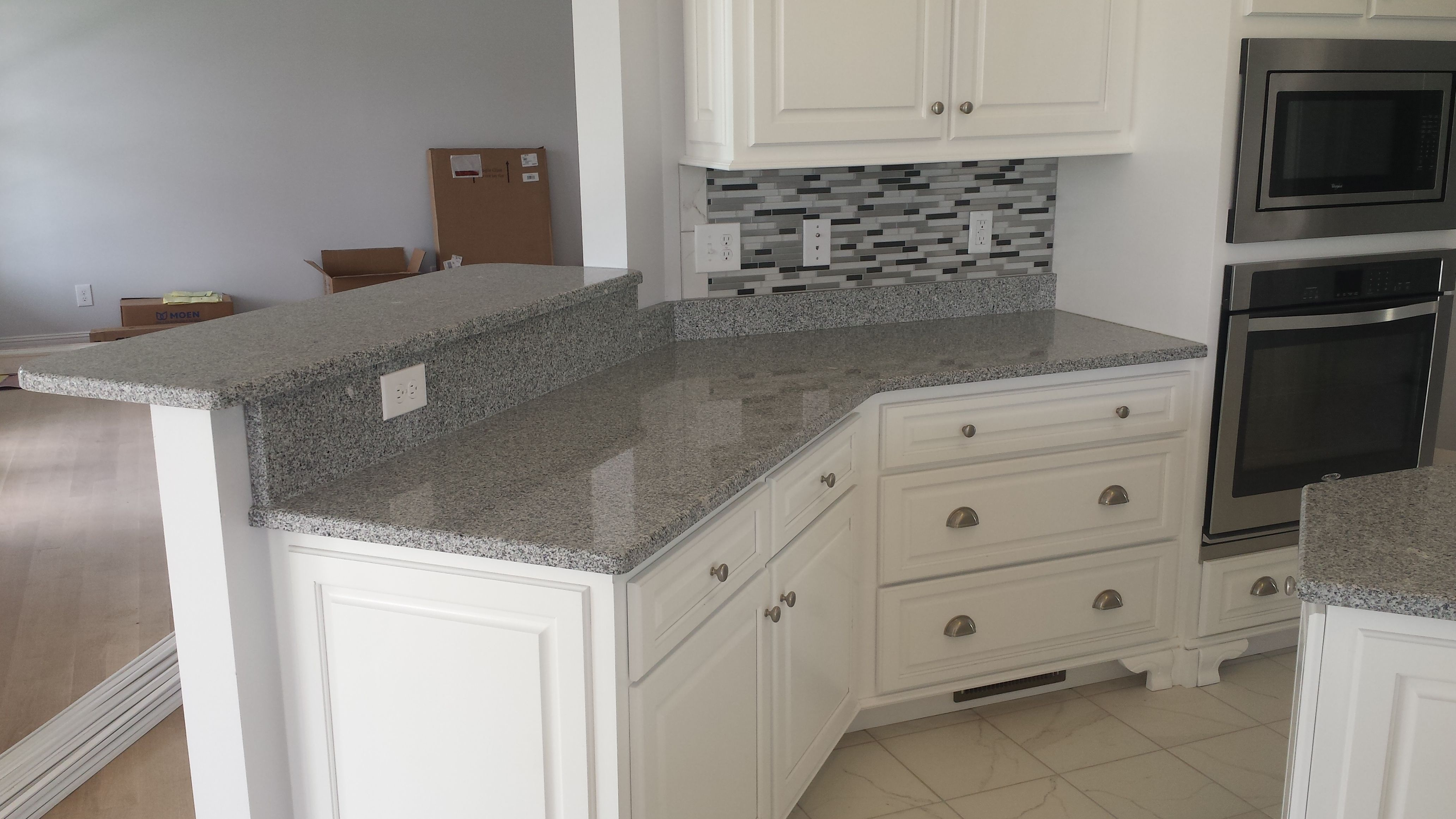 Image result for salt and pepper granite with white cabinets | Condo ...