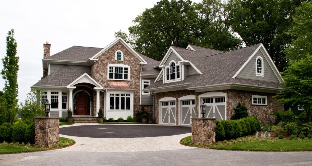 interesting traditional home exterior design | Traditional Contemporary Style Home/House | Traditional ...