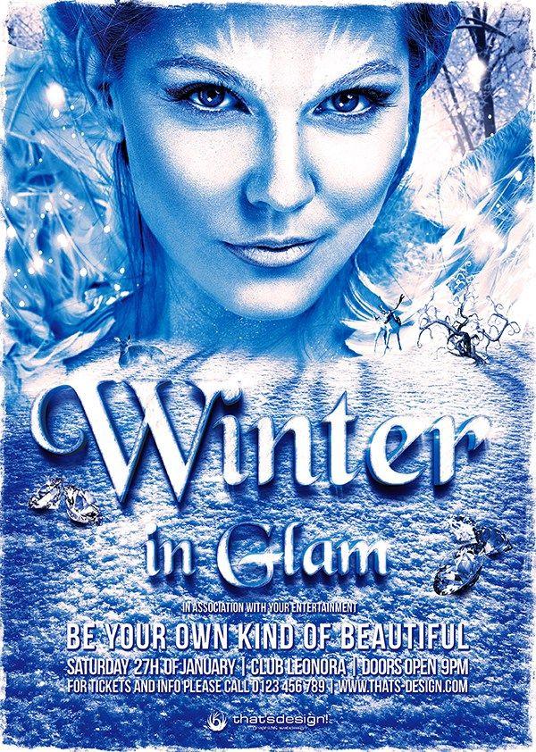 Winter Flyer Template 3 Flyer Templates Pinterest Flyer template