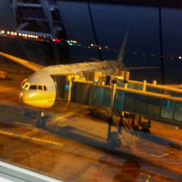 Pre-boarding. Next stop: Madrid