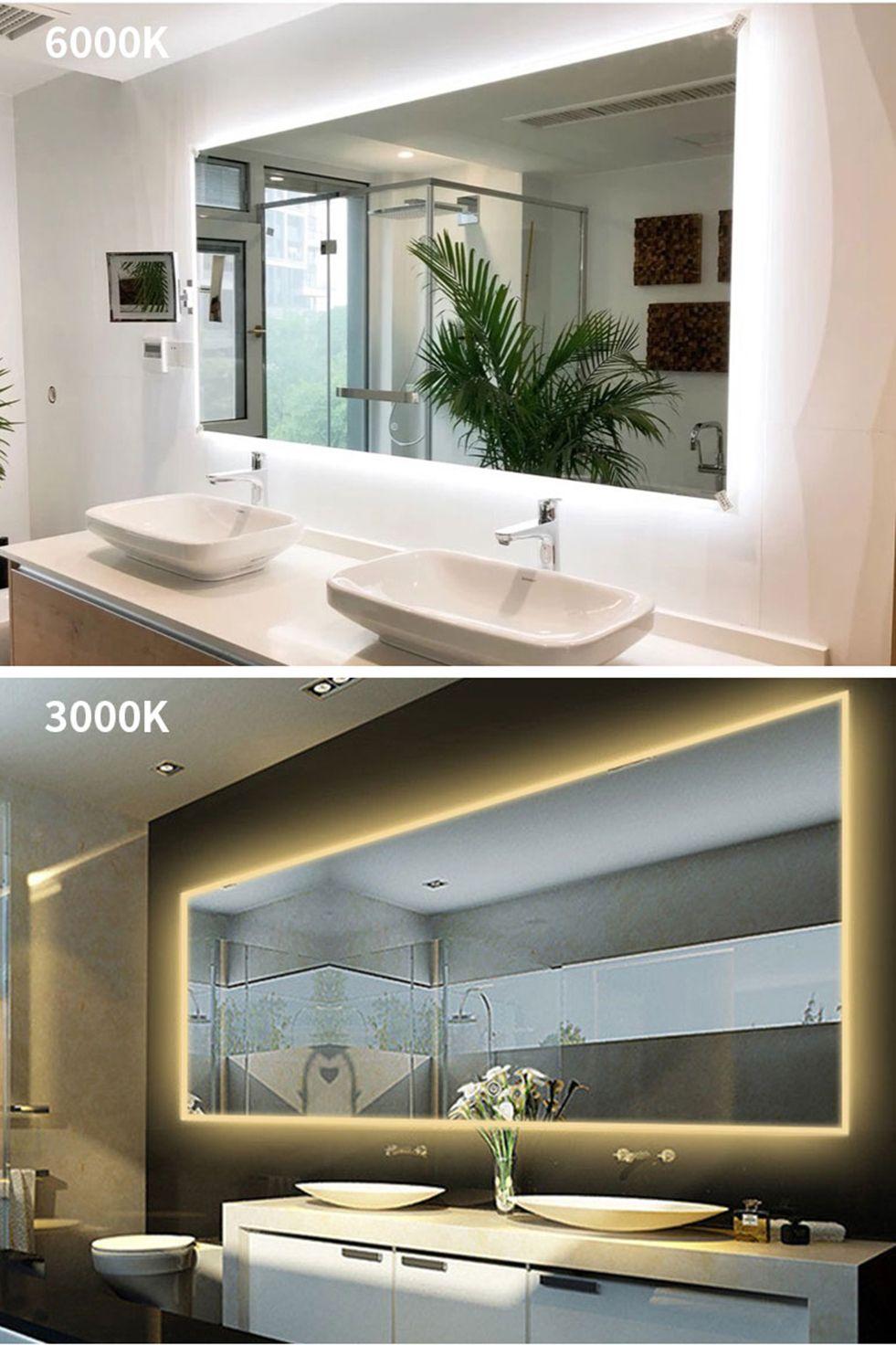 As Renewal Lane 60 Inch Led Backlit Bathroom Wall Mounted Illuminated Mirror Buy Luxury Led Bathroom Mirrors As Renewal Led Mirror Bathroom Mirror Lights Led Mirror Bathroom Led Mirror