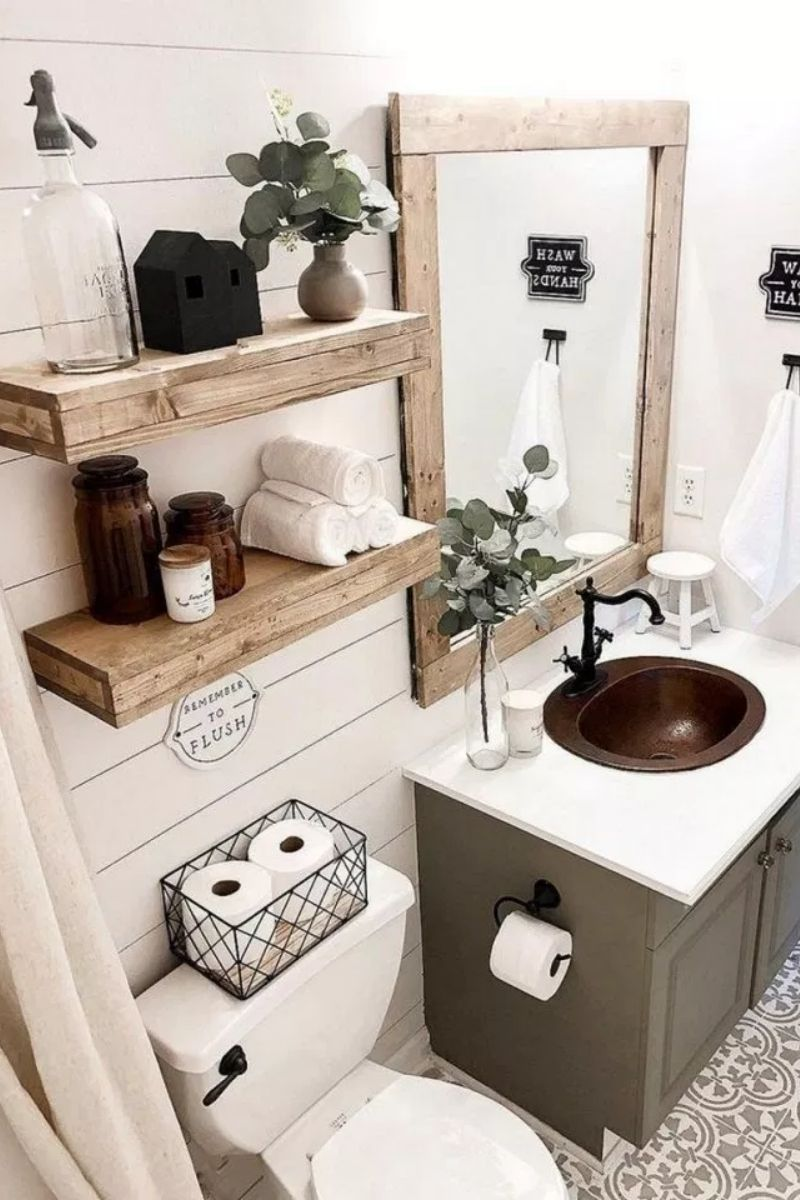 Diy Bathroom Ideas Diy Bathroom Storage Vanity And Decorating Ideas Bathroom Decorating Diy In 2020 Small Bathroom Decor Bathroom Decor Farmhouse Bathroom Decor