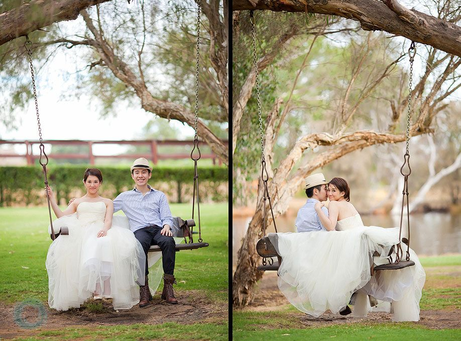 44 Caversham House Wedding Photo On Swing