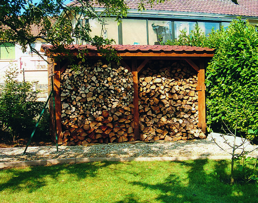 Fabriquer un bûcher pour stocker le bois  tutoriel Pinterest
