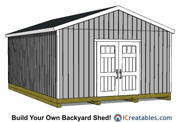 16x24 Shed Plans Buy Our Large Shed Plans Today Icreatables Shed Plans Building A Shed Shed Building Plans