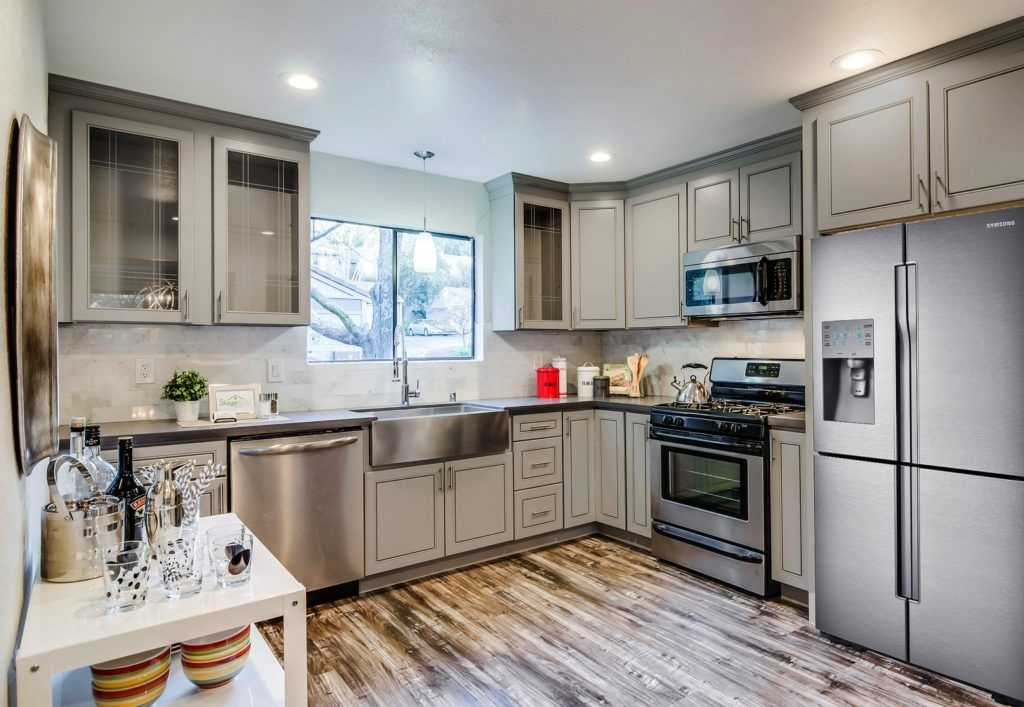 Grey Stained Maple Kitchen Cabinets Kitchen Cabinets Greige