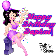 """Happy Birthday Daphne! And the rest of the Pretty Serious Crew! ~ Pretty Serious Cosmetics Turned 1 Year Old on May 14th, 2013! And they celebrated by producing a very special polish called """"Daphne's Birthday Party""""! It's a Party in a bottle for sure!"""