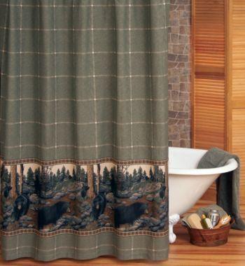 Cabela S North American Black Bear Shower Curtain Cabela S