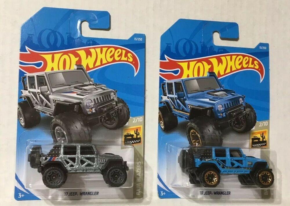 Lot Of 2 New 2019 Hot Wheels 17 Jeep Wrangler Baja Blazers 2 10