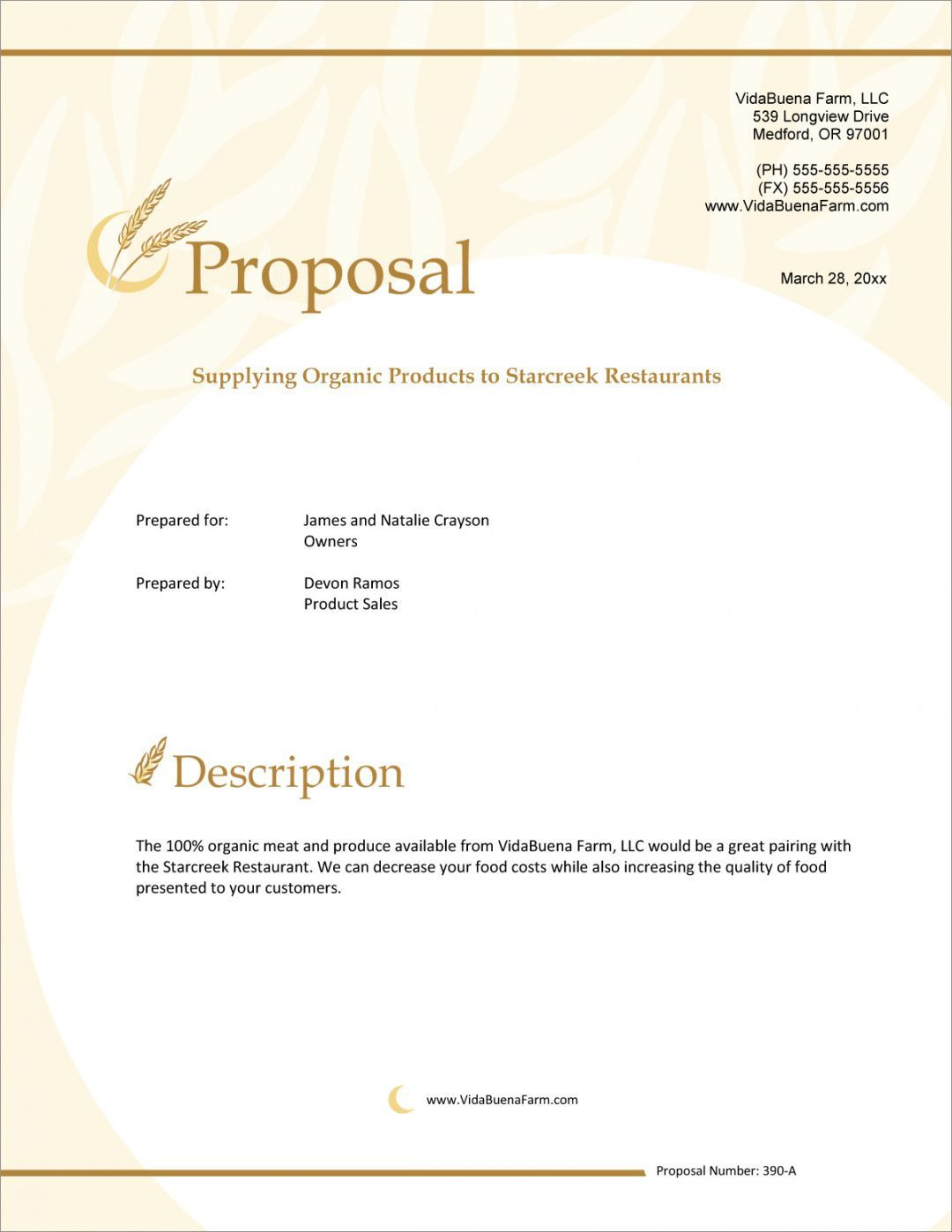 Hotel Sales Proposal Template in 2020 Proposal templates