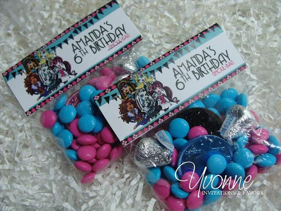 Monster High Party Goody Bags By Candybarboutique On Etsy 1 25