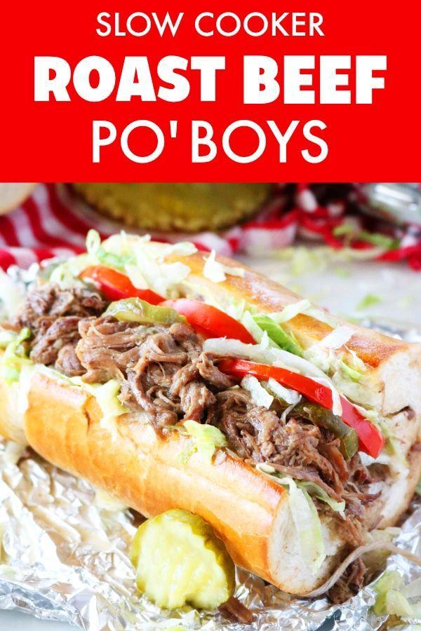 Hot Roast Beef Sandwich | Po Boy Style images