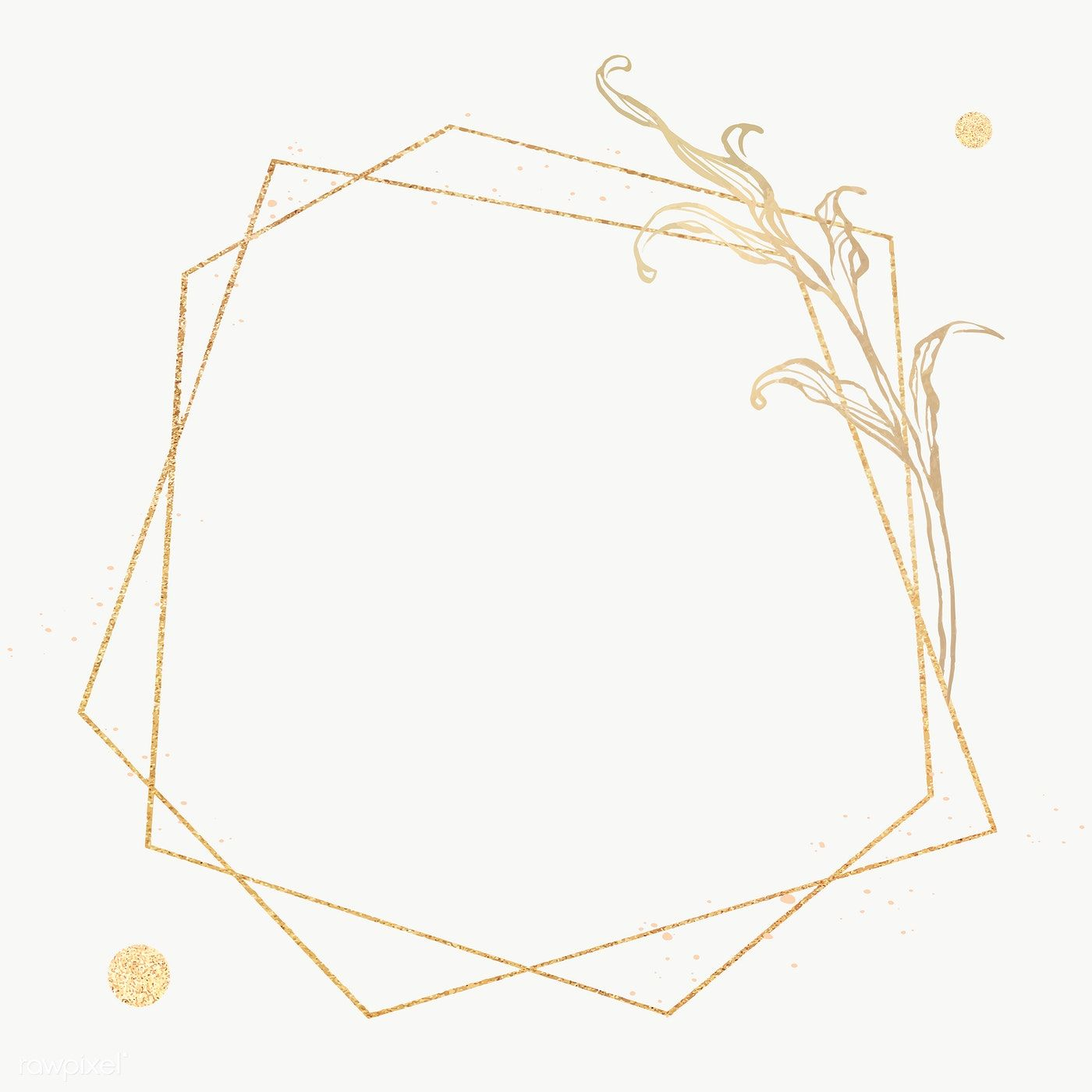 Download Premium Png Of Gold Frame With Leaves Outline 2019778 Leaf Outline Gold Frame Flower Outline
