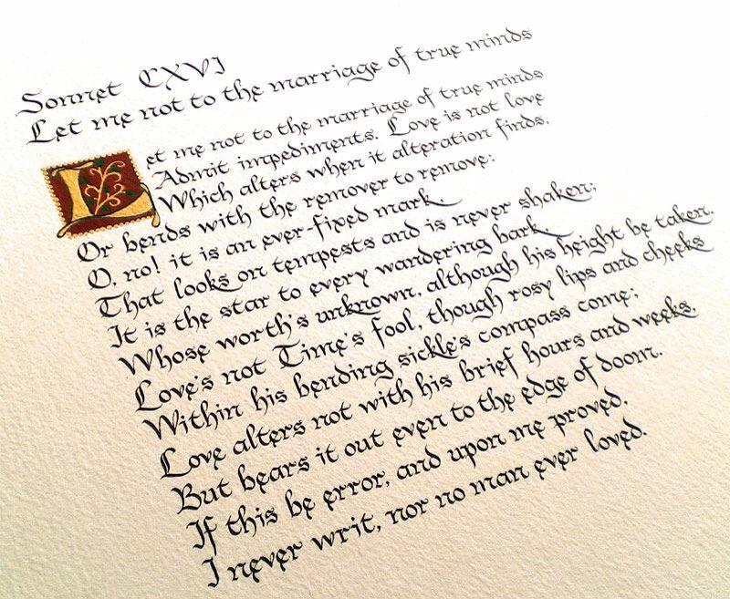 """""""(...) Amore non muta in poche ore o settimane, ma impavido resiste al giorno estremo del giudizio: se questo è errore e mi sarà provato, io non ho mai scritto, e nessuno ha mai amato."""" William Shakespeare, sonetto 116"""
