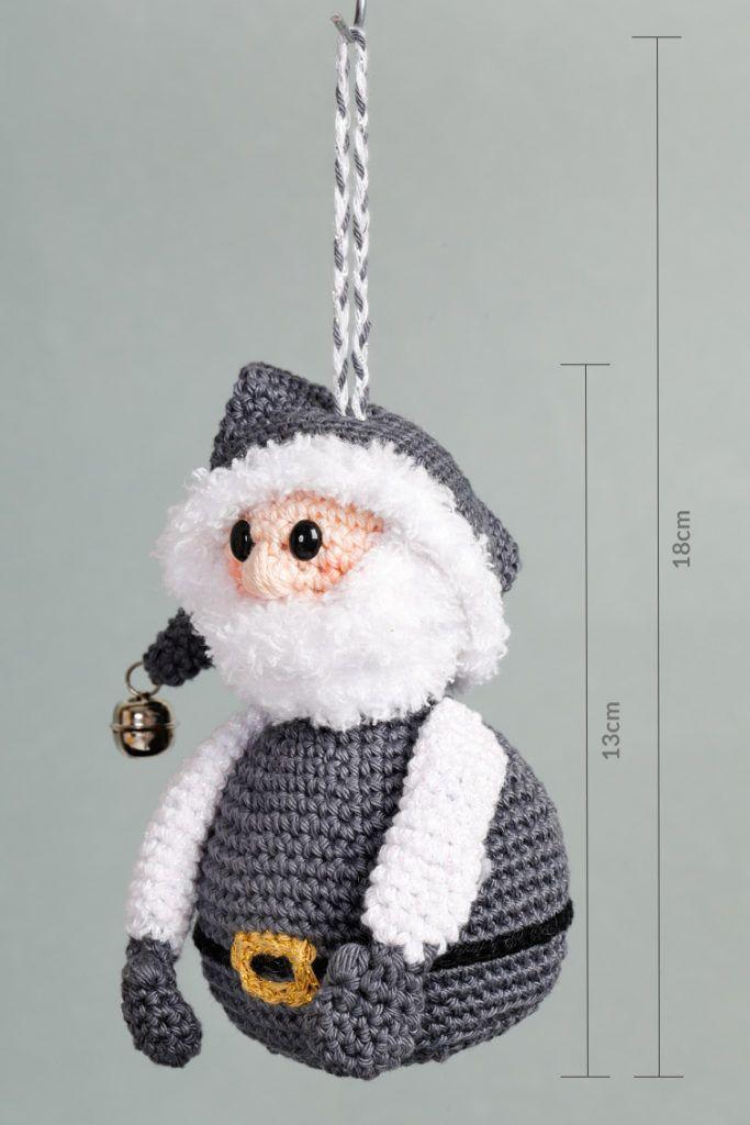 Kerstman-Aan-de-Haak-Sparkly-XMAS-Hang-along_afmeting | gehaakt ...
