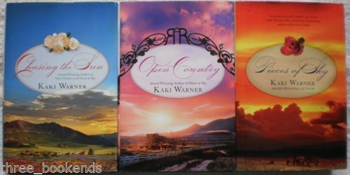 Kaki Warner Complete Blood Rose Trilogy Lot of 3 Pieces of Sky~Chasing the Sun~Open Country. $8.99