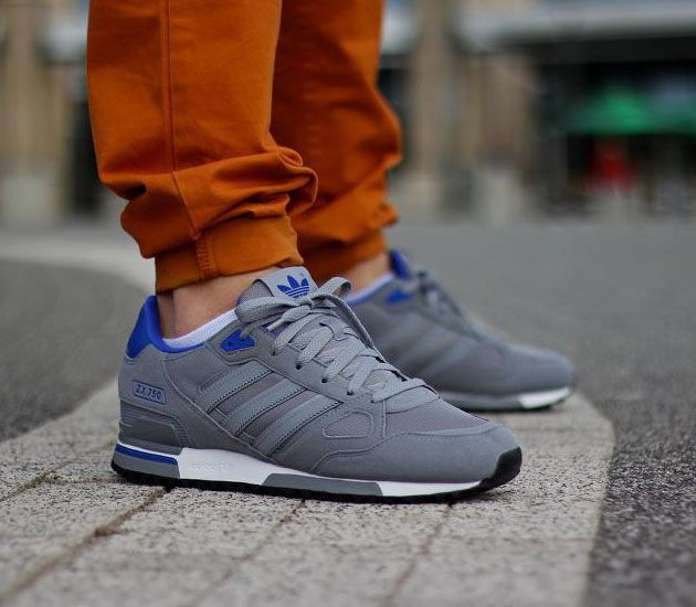 Mens Brown Grey Blue The Top Brand Adidas Zx 750 Retro Running Shoes