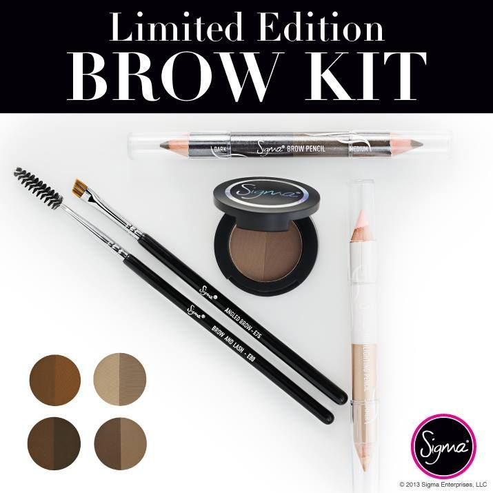 This Just In Sigma S Limited Edition Brow Kit Sigmabeauty Get Yours While Supplies Last Www Sigmabeauty C Makeup Obsession Eyeshadow Brow Kit