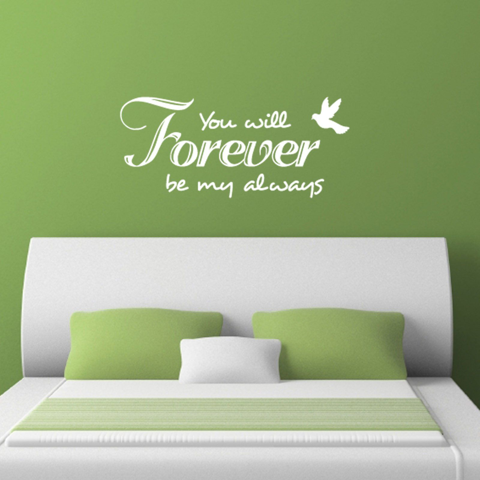 You Will Forever Be My Always Wall Decal Romantic Wall Decal