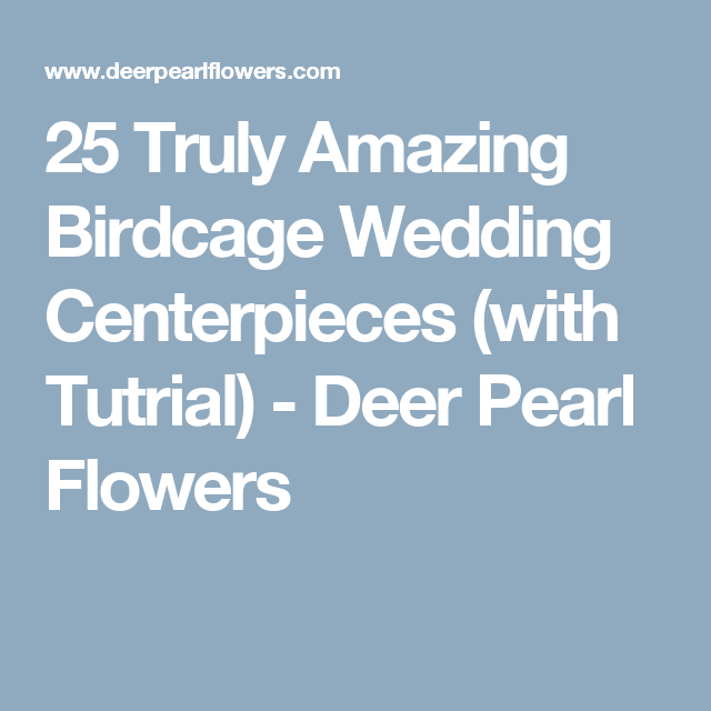 25 Truly Amazing Birdcage Wedding Centerpieces (with Tutrial) - Deer Pearl Flowers