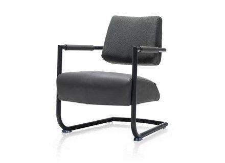 Lounge Fauteuil Zack.Zack Fauteuil Metalen Frame Zwart Combi Blues Moreno Chairs