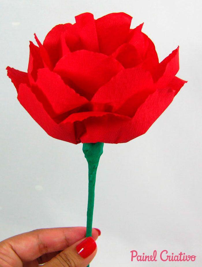 Flor De Papel Crepom Flores De Papel Crepom Como Fazer Flores