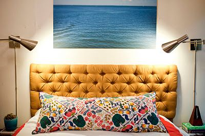 Hochwertig Tufted Headboard, Calming Photo Above, Individualized Lights, Josef Frank  Fabric From Just Scandinavian. Diy ...