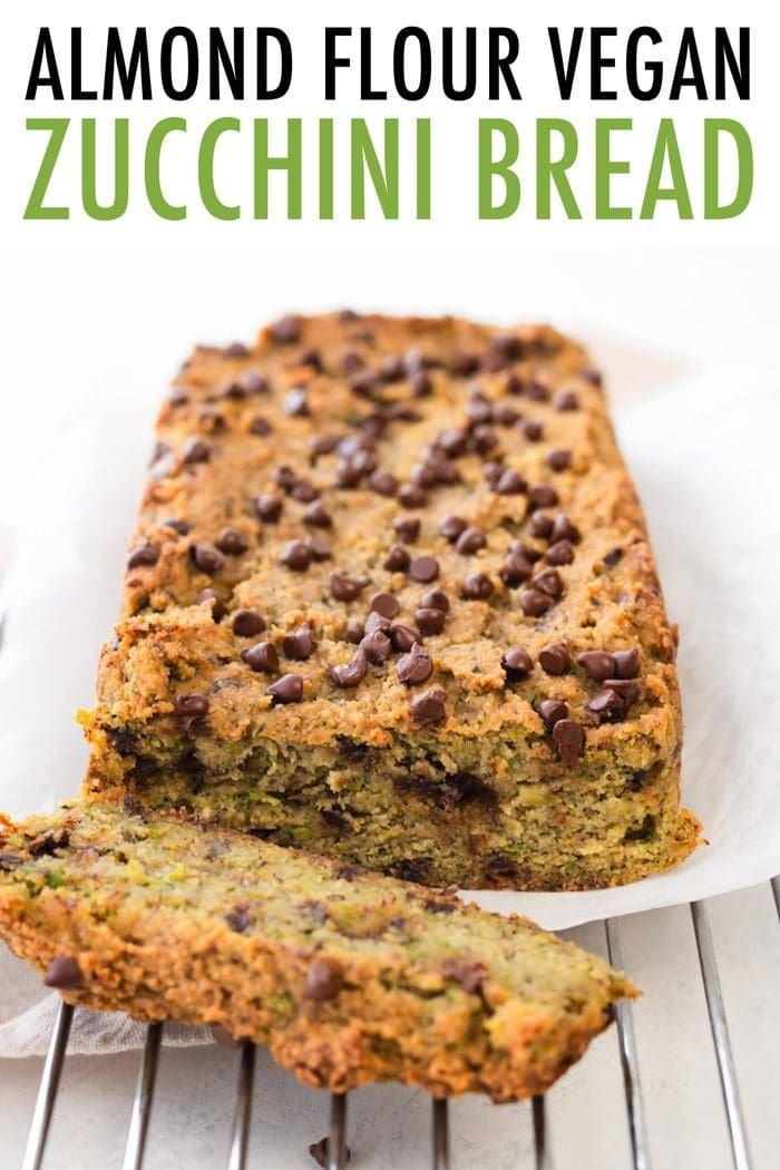 Vegan Zucchini Bread With Almond Flour Oil Free Eating Bird Food Recipe In 2020 Vegan Zucchini Bread Almond Flour Chocolate Chip Zucchini Bread