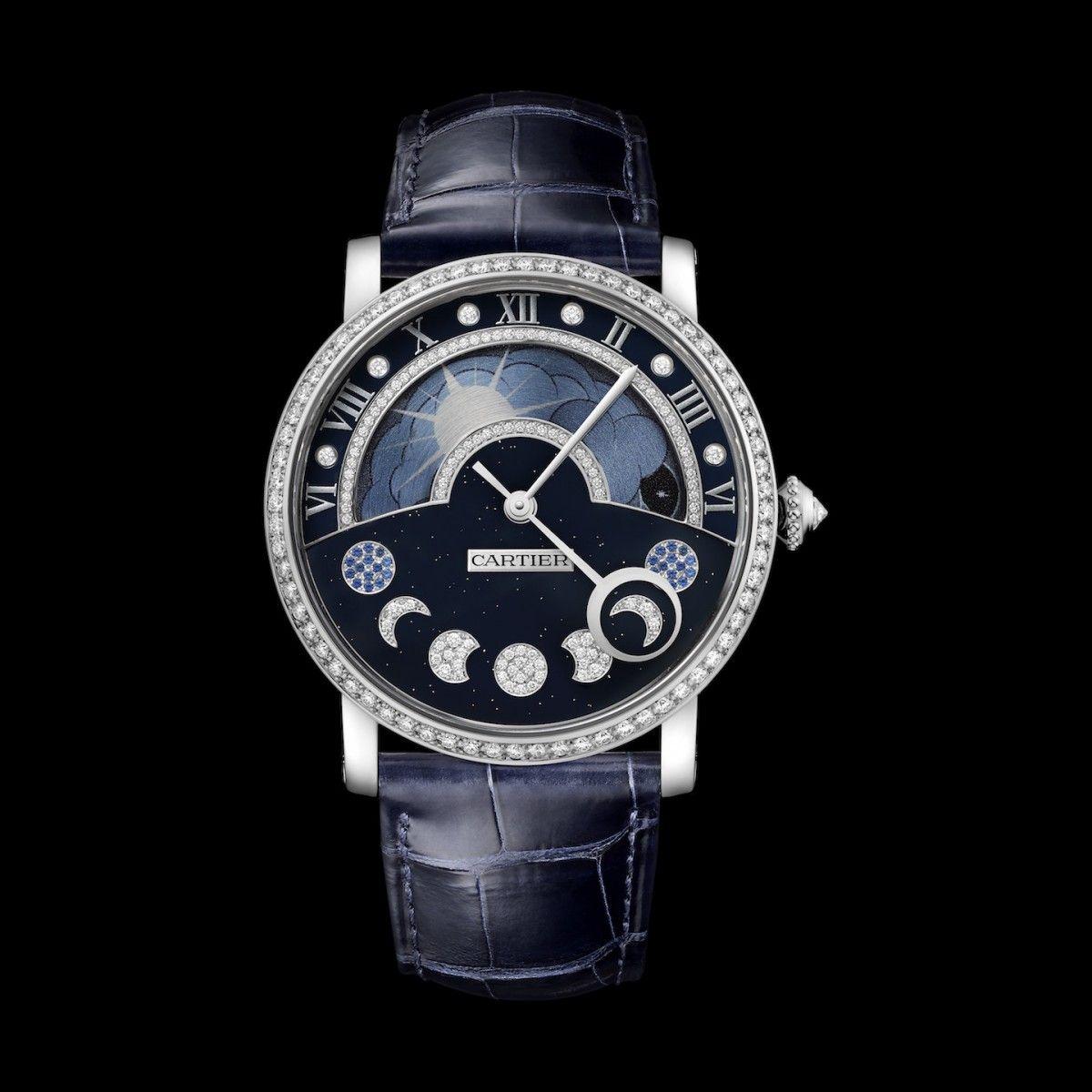 Rotonde de Cartier Day/Night Retrograde Moon watch