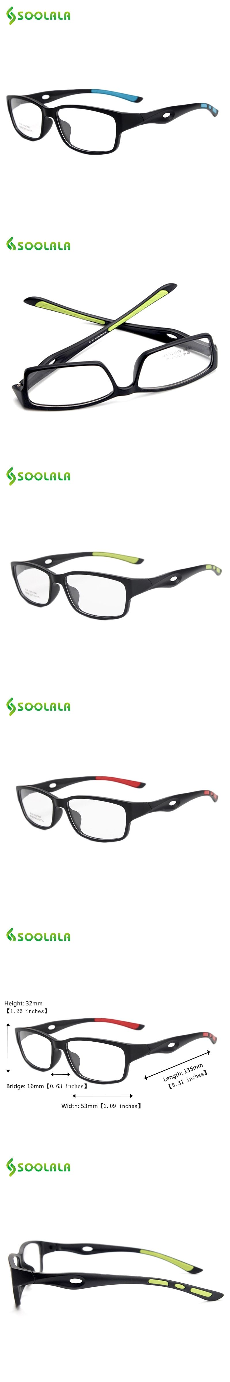 b8ae9bca20 SOOLALA TR90 Reading Glasses Sport Style Lightweight Clear Lens  Prescription Eyewear Frame Women Men Reading Glasses