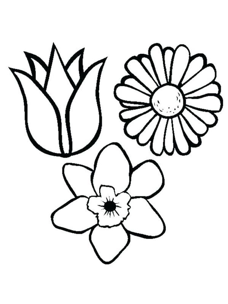 Spring Flower Coloring Pages Printable Di 2020