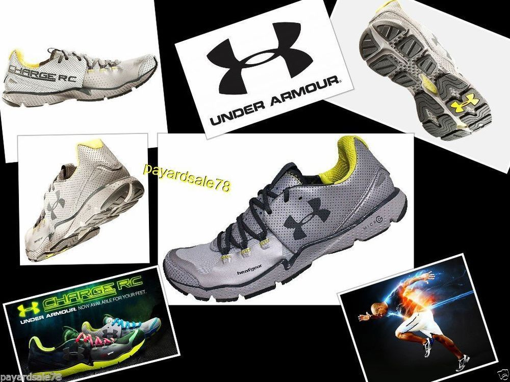 MEN'S SIZE 10.5 UNDER ARMOUR RUNNING SNEAKERS HEAT GEAR CHARGED RC REFLECTIVE  #UnderArmour #AthleticSneakers