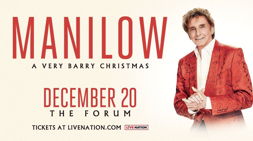 Manilow A Very Barry Christmas ad for LA Forum December 20th ...