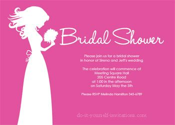 Free Printable Bridal Shower Invites Hosting a Shower Pinterest