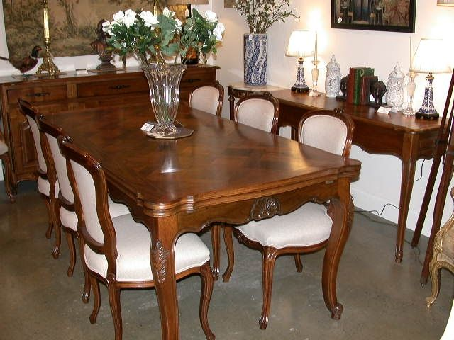 French Provincial Louis XV Style Dining Set